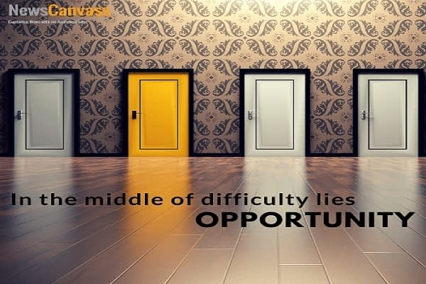 In the middle of difficulty..